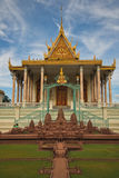 Prasat Prak Temple. Also known as the silver Temple Phnom Penh Royal  Palace with model,of Palace in front Royalty Free Stock Photo