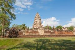 Prasat Sdok Kok Thom, templo do Khmer em Tailândia Foto de Stock