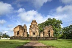 Prasat Sikhoraphum, templo da rocha do castelo em Surin, Tailândia Foto de Stock Royalty Free