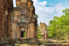 Prasat Suor Prat σε Angkor Thom σύνθετο, Καμπότζη Στοκ Εικόνες