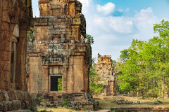 Prasat Suor Prat in Angkor Thom Complex, Cambodia Stock Photo