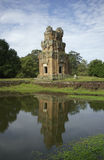 Tower at Prasat Suor Prat in Angkor Stock Image