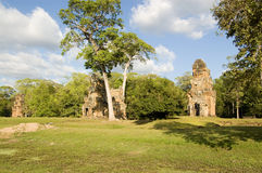 Prasat Suor Prat towers, Angkor Royalty Free Stock Photography