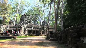 Prasat ta prohm in Angkor Wat Complex, Cambodia Stock Photo