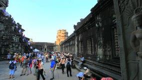 Prasat ta prohm in Angkor Wat Complex, Cambodia. SIEM REAP, CAMBODIA - DECEMBER 8 : People visit Ankor Wat in Siem Reap, Cambodia on December 8, 2013. Ankor Wat stock video