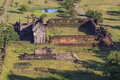 Prasat wat phu champasak southern of laos one of two laos world Royalty Free Stock Images