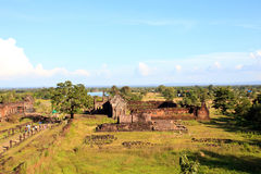Prasat wat phu champasak southern of laos one of two laos world heritage site Royalty Free Stock Images