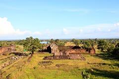 Prasat wat phu champasak southern of laos one of two laos world heritage site Royalty Free Stock Images