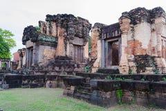 Prasat Wat Sa Kamphaeng Yai, tempio buddista di Mahayana, Sisaket, Fotografie Stock