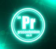 Praseodymium chemisch element vector illustratie