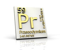 Praseodymium form Periodic Table of Elements Royalty Free Stock Image