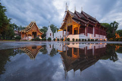 Prasing Temple in Thailand. Prasing Temple on twilight time at Chiang Mai , Thailand Stock Images