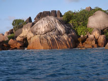 Praslin de Anse lazio Imagem de Stock