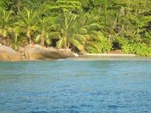 Praslin de Anse lazio Fotos de Stock