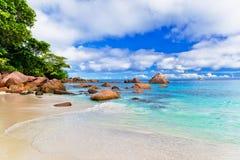 praslin du Latium d'île d'anse Les Seychelles Images libres de droits