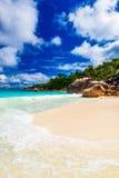 praslin du Latium d'île d'anse Les Seychelles Images stock