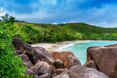 praslin du Latium d'île d'anse Les Seychelles Photo libre de droits