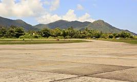 Praslin Island Airport also known as Iles des Palmes Royalty Free Stock Photo