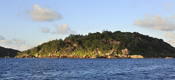Praslin Island in Indian Ocean Stock Photos