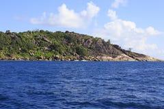 Praslin Island in Indian Ocean. Stock Image
