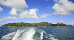 Praslin Island in Indian Ocean. Stock Photo