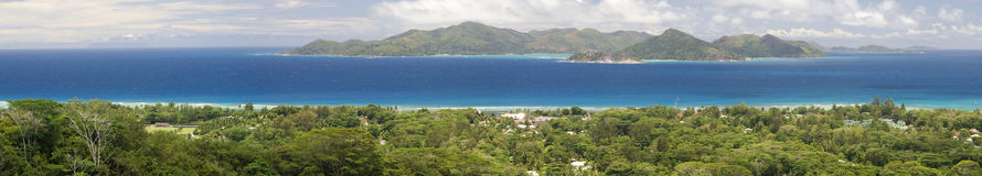Praslin Panorama Stock Photography