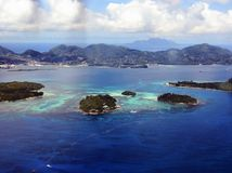 Praslin tropical de Collibri da praia Fotografia de Stock