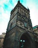 Prasna-brana, Pulver-Turm Altes Gebäude in Prag Lizenzfreies Stockbild