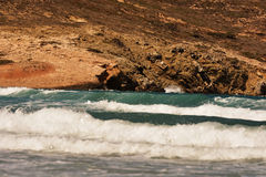 Prasonisi爱琴海强风 图库摄影