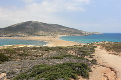Prasonisi,罗得岛,希腊 图库摄影
