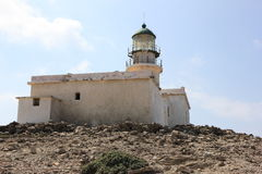 Prasonisi lighthouse, Rhodes, Greece. Stock Photography