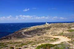 prasonisi rhodes ландшафта маяка Стоковые Изображения RF