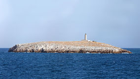Prasouda islet, Aegean, Greece stock photography