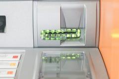 Prasowa ATM wszywki karta Obrazy Stock