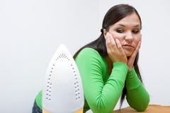 prasowanie kobieta zdjęcie stock