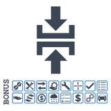 Prasowego Pionowo kierunku glifu Płaska ikona Z premią obraz royalty free