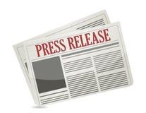Prasowego uwolnienia gazetowy ilustracyjny projekt Zdjęcia Royalty Free
