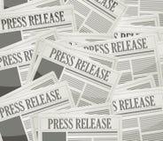 prasowego uwolnienia gazetowy ilustracyjny projekt zdjęcie stock