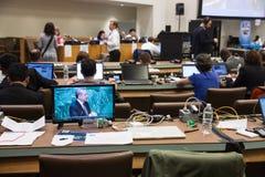 Prasowy centrum 71st sesja Narody Zjednoczone Zdjęcie Stock