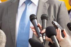 Prasowy wywiad Konferencja prasowa zdjęcia stock