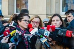 Prass konferencja po Pawel Adamowicz śmierci obraz royalty free