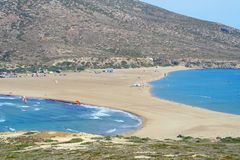 Prassonisi cape in Rhodes island Stock Image