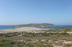 Prassonisi kiss to two seas. Rhodes Island, Greece Royalty Free Stock Photos