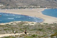 Prassonisi udde i den Rhodes ön Royaltyfri Bild