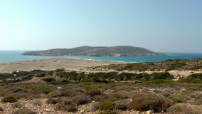 Prassonissi beach stock footage