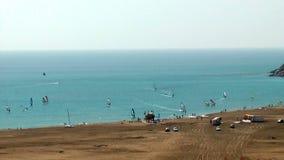 Prassonissi beach stock video footage