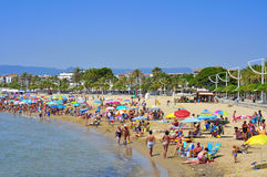 Prat de en Fores Beach, in Cambrils, Spain Royalty Free Stock Photo