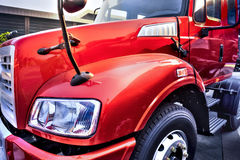 Prat of red truck Stock Photos