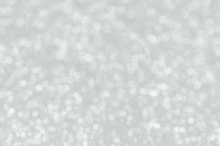 A prata abstrata Defocused ilumina o fundo Fotos de Stock Royalty Free