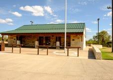 A prata cai área de repouso, estrada 82, Texas Imagens de Stock